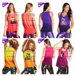 Wholesale Yellow Dance Top - S M L woman yoga vest dance tops Tank racerback I Love Loose Tank Style # Z1T01250