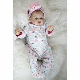 "Wholesale Silicone Realistic Baby Dolls - Realistic Newborn 22"" 55cm Handmade Lifelike Newborn Baby Doll Reborn Soft Silicone Vinyl Hair Rooted Gift for Girl"