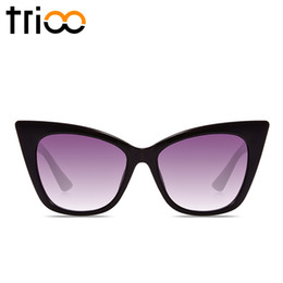 Wholesale Sexy Sport Sunglasses - Wholesale-TRIOO Sexy Ladies Sunglasses Brand High Fashion Gafas de sol Woman Cool Glossy lunette Female Gradient Tortoiseshell Sun Glases