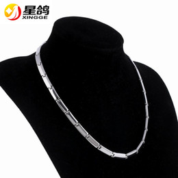 Wholesale Porcelain Gifts For Men - New Design Link Chain 316L Stainless Steel necklace Wholesale Fashion Anti-fatigue Heath Care Magnetic Necklace for women men Gift Jewelry