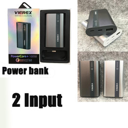 Wholesale Mini Chargers For I Phones - Phone Power Banks 10400mah Mini Portable Charger USC-C Mobile Charger For i phone 7 iphone 8 Samsung note 8 HTC 10050 18650 Battery