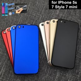 Wholesale Alloy Iphone Back - For Iphone 7 mini batterry cover For Iphone 5s Back Housing Black Gold Alloy Frame Parts customize IMEI Free Shipping