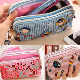Wholesale Cute Jasmine - Wholesale- Jasmine Women Cute Cat Heart Wallet Purse Triple Zipper Clutch Bag Case Classy Dec21