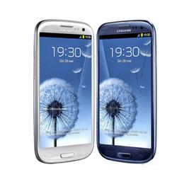 Wholesale Mobile Phone Box Original - Original Samsung Galaxy S3 i9300 Quad Core 1gb 16gb 8MP Camera 4.8'' GPS Wifi 3G Unlocked mobile phone refurbished smartphone sealed box