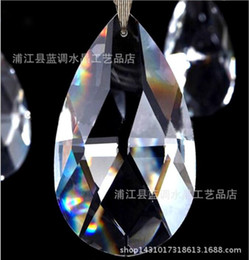 Wholesale Crystal Ceiling Chandelier - Glass Crystal Chandelier Prisms Ceiling Lamp Teardrop Pendants Bead Curtain Accessories Wedding Decorate Kind of Size