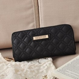 Wholesale Handbags Wallet Organizer - Hot Selling Kk Wallet Long Design Women Wallets PU Leather Kardashian Kollection High Grade Clutch Bag Zipper Coin Purse Handbag