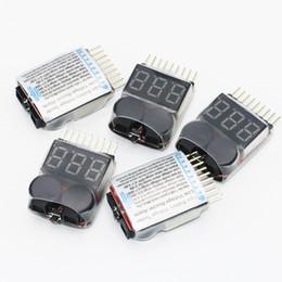1-8S LED Lipo Tension Indicateur Checker Testeur Basse Tension Buzzer Alarme Livraison Gratuite 1STL ? partir de fabricateur