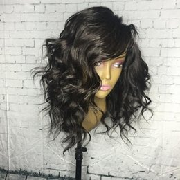 Wholesale Black Short Curly Hair Wig - Short Curly Brazilian Hair Full Lace Human Hair Wigs 130%density for Black Women Natural Color Ponytail 14Inch