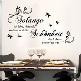 Wholesale German Wall - 9317 German Solange Quote Wall Stickers DIY Home Decorations Wall Decals Vinyl Schonheit Stickers