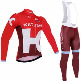 Wholesale Cycle Wear Thermal - 2017 katusha Pro team Winter Thermal Fleece Cycling wear long sleeve bicycle jersey maillot ciclismo invierno Bike shirt Fleece