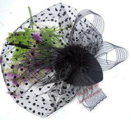 2019 copricapo da cerimonia nuziale Cappelli da sposa coreani 2017 dei cappelli da sposa dei capelli della sposa del copricapo della sposa dei capelli neri / blu navy / bianchi di modo economici