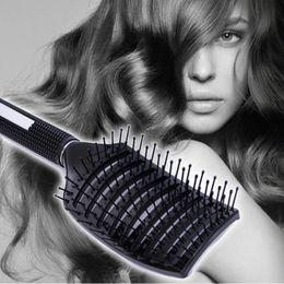 Wholesale Hair Designs Salon - Fashion Salon Scalp Massage Comb Hair Brush Professional Detangle Paddle Hairbrush Hairdressing Styling Tools Arched Design