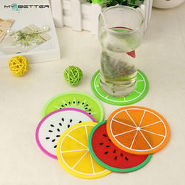 Wholesale Meal Pad - Wholesale-Fruit Shape Antiskid Heat Insulation Coaster Creative Home Kitchen Bowl Mats Placemat Table Mat Cup Mat Meal Pad 1pcs