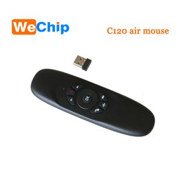 Wholesale Air Mouse Gyro Keyboard - 2.4GHz G Mouse II C120 Air Mouse T10 Rechargeable Wireless GYRO Air Fly Mouse Keyboard for Android TV Box Computer