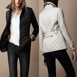 Wholesale Women Pads Brands - Hot Classic!women fashion england short thin cotton padded coat high quality brand designer jacket for women size M-4XL free shipping