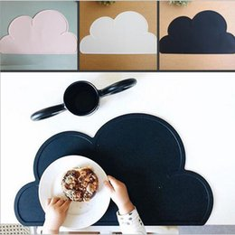 Wholesale Cute Mats - Fashion 1Pcs Silicone Cloud Shape Insulation Kitchen Placemat Cute Kids Placemat Pad Dining Table Mat Coaster Christmas