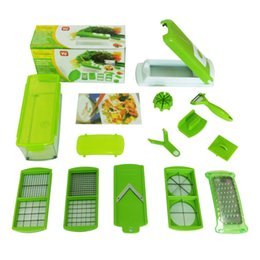 Wholesale Vegetable Cuts - Green Health Multi-function Cutting Artifact Lazy Kitchen Magic Shredder Cut Slices Slicer New ABS Material