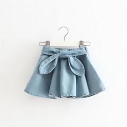 Wholesale Cotton Denim Girls Dress - Girls Rabbit Denim Skirt Baby Girl Dress 2017 Baby Girl Tulle Bow Skirt Princess Party Dress TuTu Dress Children's Clothing