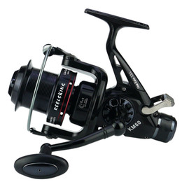 Wholesale Fly Gear - 2017 Spinning Fishing Reel 10+1BB Saltwater Carp Long Casting Sea Boat Fishing Reel Speed 5.2:1 Large Spool Double Brakes Drag Gear