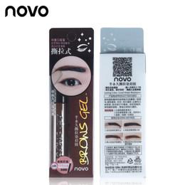 Wholesale Eyebrow Dye Color - Eye Brow Tattoo Tint Waterproof Long-lasting Peel Off Dye Eyebrow Gel Cream Mascara Make Up Pen Korean Cosmetics NOVO Eye Makeup