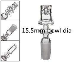 Nó de cristal puro do diamante do prego do Banger de quartzo com 10/14 / 18mm MaleFemale Diâmetro da bacia do costume de 15.5mm Enail polido de