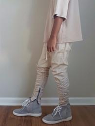 Pantalones swag para hombre online-estilo de la marca laterales con cremallera hombres delgados ocasionales mens basculador hip hop pantalones de ciclista Swag de pantalones de chándal pantalones flacos