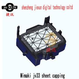 Wholesale Mutoh Printer Wholesale - top quality dx5 head solvent cap top sheet capping station for mimaki jv33 jv5 cjv30 mutoh vj1204 1604 digital printer machine