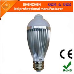 Wholesale Motion Globe - LED Bulb PIR Human Motion Sensor Light 5W 7W E27 Infrared induction Bedroom Indoor Use Warm White White
