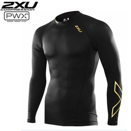 Wholesale Compress Clothing - New Arrivals Men Women Running Compression Tights Long sleeves Women Elastic Clothes Tight-fitting Sports Marathon Fitness Jogging Long slee