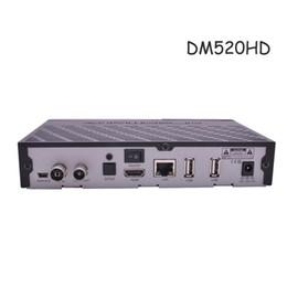 Wholesale Dvb C Box - DM520hd DVB-C T2 Tuner Linux OS 2000 DMIPS Prozessor cpu TV Receiver Full HD 1080p dm520 vs meelo combo tv box