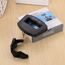 Wholesale Weighing Scale For Luggage - Mini Digital Hanging Scales For Multi Function Weighing Tool Hand Held LCD Display Luggage Scale Black 12 5bs C R