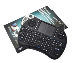 Wholesale Remote Control Pc Media - 2017 Wireless Keyboard rii i8 keyboards Fly Air Mouse Multi-Media Remote Control Touchpad Handheld for TV BOX Android Mini PC