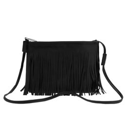 Wholesale Handbags Korea Wholesale - Wholesale- Alishebuy Women's Girl Tassel Shoulder Bag Handbag 3 Colors New Korea