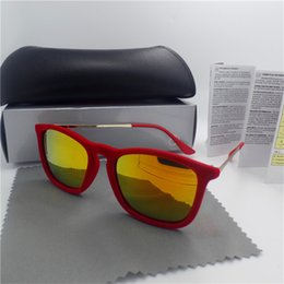 Wholesale Mirror Sunglasses Sale - High quality Brand designer Erika Sunglasses For Men and Women UV Protection Vintage Sport Sun glasses With box and casesHot sales Brand Des