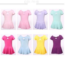 Wholesale Child Leotard Skirt - (10set-skirt&white pant) summer Children Dance Girls leotard girl ballet skirt shape grading short sleeved clothing ballet skirt by UPS