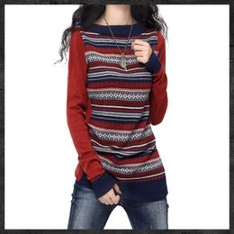 Wholesale Trendy Winter Sweaters - Wholesale-Women's Crewneck Long Artkas Style Knitted Cashmere Sweaters And Pullovers Ladies Autumn Winter Trendy Warm Jumpers Pull Feme