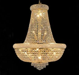 Wholesale empire chandeliers - Phube Lighting French Empire Gold Crystal Chandelier Lustre Chrome Chandeliers Modern Chandeliers Light Lighting 71053