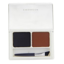 Wholesale Eye Shading Brush - Wholesale- Hot Sell Fashion Cosmetic Kit Makeup2 Color Eyebrow Shading Powder Eye Brow Palette Brush
