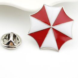 Wholesale Umbrella Brooch Pin - Wholesale- New Style Resident Evil The Umbrella Chronicles Enamel Fashion Brooches Christmas Gifts Silver Plated Women And Men Brooch Pins