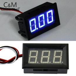 6v lithiumbatterien online-Heißer Mini Lithium Batterie Digital Voltmeter 4,5-30 v / DC 4,5 V zu 30 V Digital Voltmeter Spannung Panel Meter Für 6 V 12 V 24 V elektr