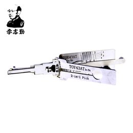 Wholesale Lishi Toyota - Original Lishi TOY43AT 2in1 Decoder and Pick for Toyota Camry Reiz Corolla Crown, 100% Original Lishi Tools from Mr. Li Factory