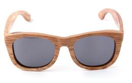 Wholesale Handmade Wooden Eyeglass Frames - Free shipping 10pcs Adumbral Wooden polarized sunglasses Handmade wood eyeglass frames dichroic block glasses lens W30