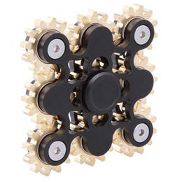 Wholesale Toy Gear Wheels - Gear Nine Teeth Metal Fidget Spinner Steampunk Linkage Wheel Finger Gyro Decompression Anxiety Toys DHL OTH420