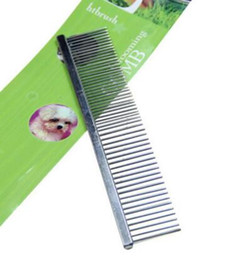 Wholesale Stainless Steel Dog Teeth - 50pcs lot Small Size Stainless Steel Pet Dog Cat Grooming Comb Teeth cats Free Shipping