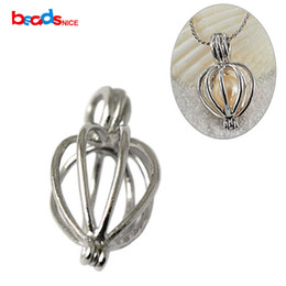 Wholesale Wholesale Sterling Jewelry Findings - Beadsnice Wholesale Solid Silver 925 Ball Pendants Cage Handmade Silver Cage Pendant Finding for DIY Jewelry Making ID27520