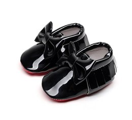 Wholesale Infant Shoe Brands - Kids Shoes Baby Shoes Toddler Shoes Cack Bow Soft PU Leather Tassel Moccasins Prewalker New Baby Girls Brand Shoe Baby Shoe Infant Shoe