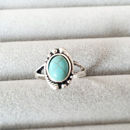 Wholesale Evil Eye Gold Plated - New Fashion Rings Retro Style Evil Eye With Turquoise Women Men Party Ring Jewelry Festival Gifts EFR011