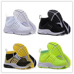 Wholesale womens training - High Airs Presto Men And Women Running Shoes Mens Training Sneaker Womens Sports Shoes AIRs PRESTO BR QS Breathe Black White Walking Boot
