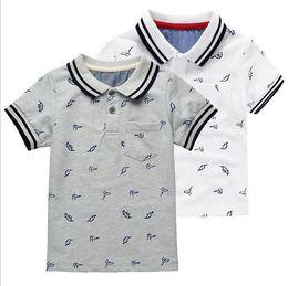 Solapas de abrigo de tela online-2018 Girls Cloth Moda Infantil de la solapa de la camiseta animal print niños abrigo dinosaurio moda bebé camisas kid212