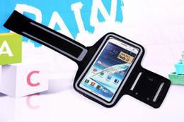 Wholesale Galaxy Arm Band - For Samsung Galaxy Note 3 N9000 Note 4 N9100 Outdoor Sport Running Arm Band Gym Wrist Strap Tune Belt Cover Holder phone Case